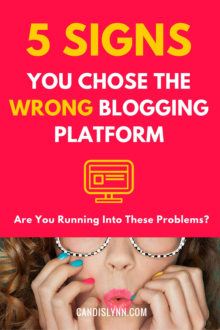 SO much debate about Blogger vs. free WordPress vs self-hosted! Check to see if you're on the right blogging platform for your needs: https://www.candislynn.com/blogging-platform/
