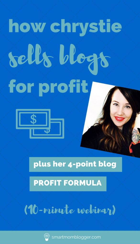 Ever wonder if you could sell your blog for profit? Or if there's some kind of money formula for blogging? https://www.smartmomblogger.com/how-to-sell-your-blog/ Chrystie reveals how she does it consistently (plus her 4-point blog profit formula).